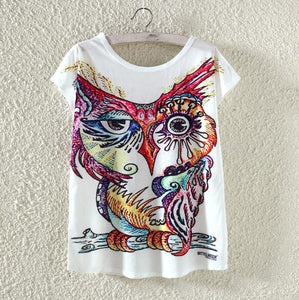 Owl Woman T Shirt