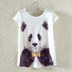 Cute Panda Woman T Shirt