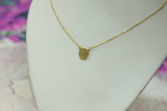 Trendy Gold Owl Necklace - Crateen