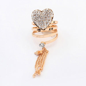 Elegant Heart Ring - Crateen
