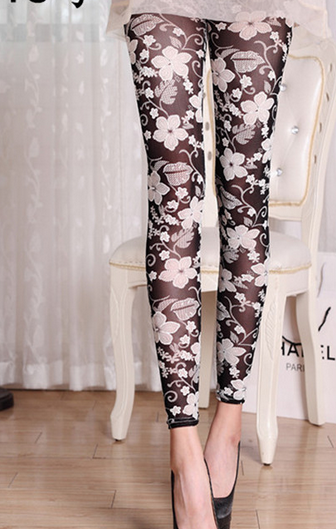 Fashion Flowers Leggings - Crateen