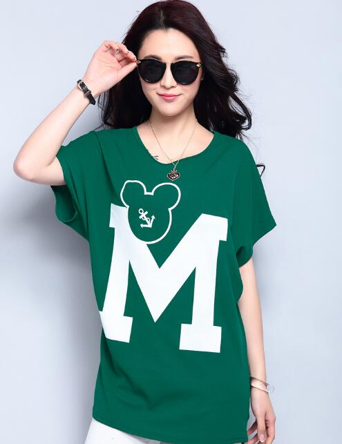 Long Green M Women Tshirts