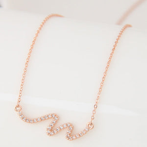 Rose Gold Pure Necklace - Crateen