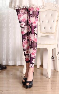 Pink Rose Leggings - Crateen