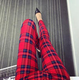 Red Stripped Leggings