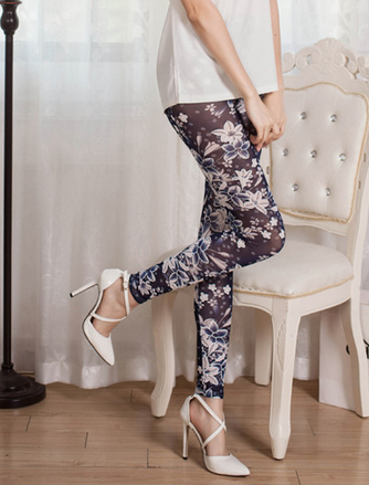 Decorated Flowers Leggings