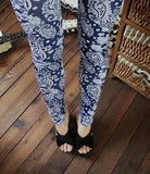 Blue Decorated Leggings