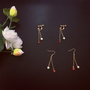 Heart & Pearl Earrings