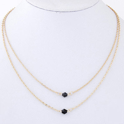Black Beads Necklaces for women