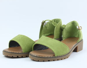 Green Small Heel Shoes