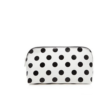 Black Sppot Makeup Bag - Crateen
