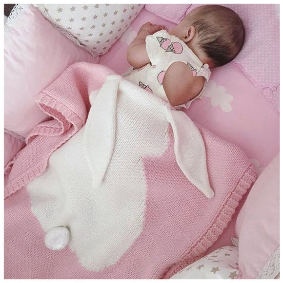 Pink Rabbit Baby Blanket