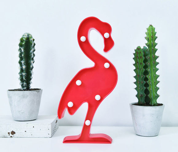 Lovely Red Flamingo Light