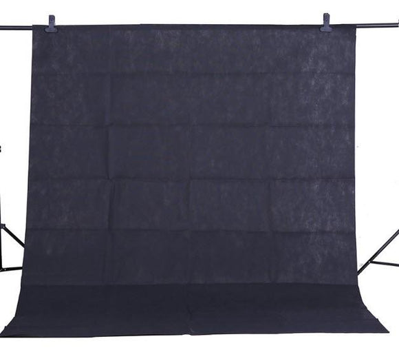 Black 1.6x2m Textile Muslin Photo Backdrop