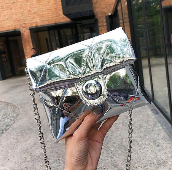 Shining Silver Women Handbags