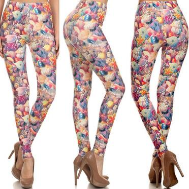 Cololarful Rose Leggings - Crateen