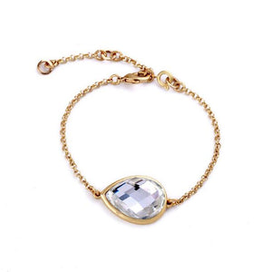 Golden Crystal Bracelet - Crateen