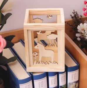 Wood Pencil Box Horse