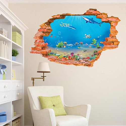3D Sea Wall Sticker