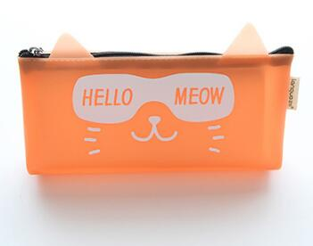 Orange Cat Pencil Pocket
