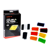 Godox 7 Color Universal Speedlite Filters Kit For Flash Photography