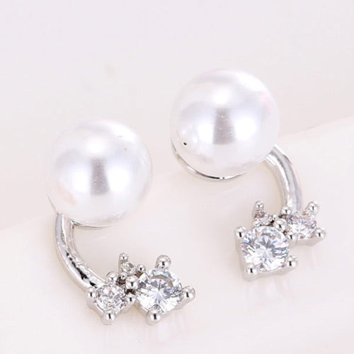 Elegant Silver Round Shape Earrings
