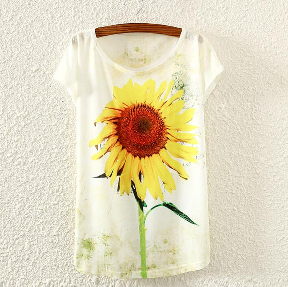 Sunflower Women Tshirts - Crateen