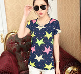 Stars Fashion Women Tshirts - Crateen