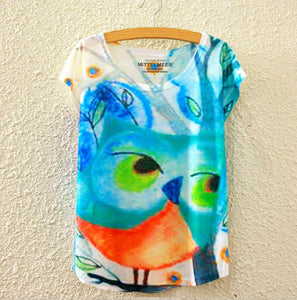 Cute Owl Women Tshirts - Crateen