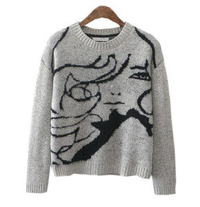 Face Women Sweaters - Crateen