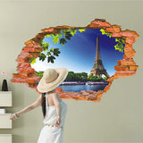 3D Eiffel Tower Wall Sticker - Crateen