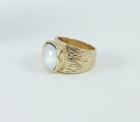 White Stone Ring for women