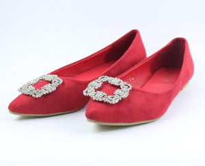 Red Flats Shoes - Crateen