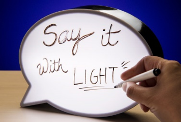 Led Light-Up Speech Bubble