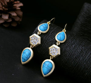 Blue Stone Fashion new Earring - Crateen