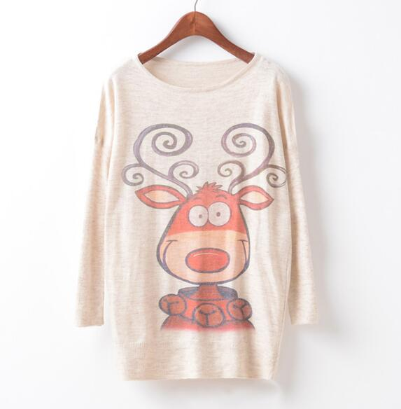 Cute Deer Women Sweaters - Crateen