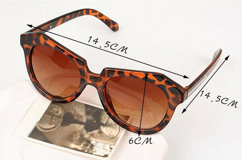 Leopard Frame Sunglasses for Women