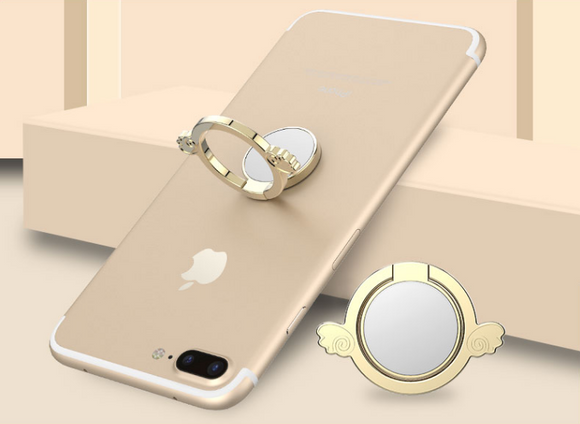 Golden Phone Finger Ring Holder