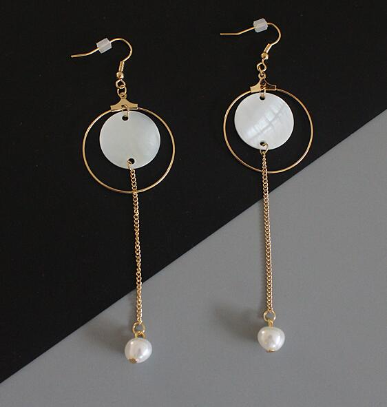 Round Long Earrings - Crateen