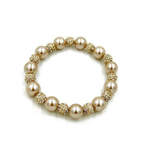 Golden Pearls Bracelet - Crateen