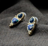 Double Stones Earrings - Crateen