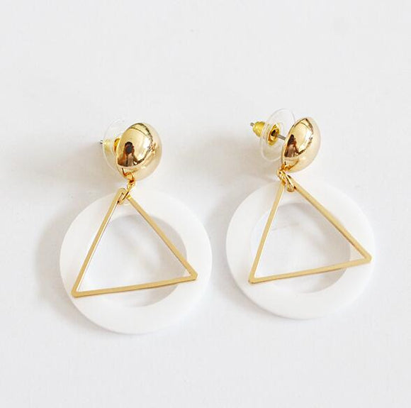 Fashion White Earrings - Crateen