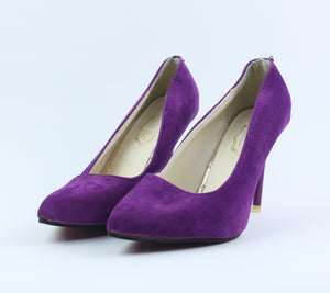 Purple Women Heels - Crateen
