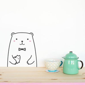 Bear Wall Sticker - Crateen