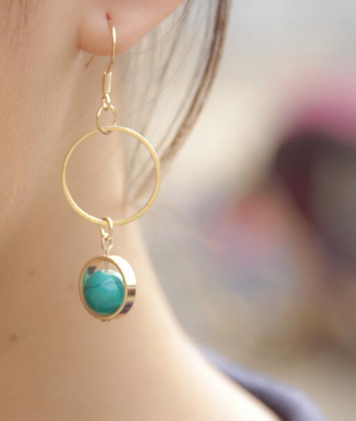 Blue Fashion new Earring - Crateen