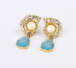 Blue Crystal Earring - Crateen