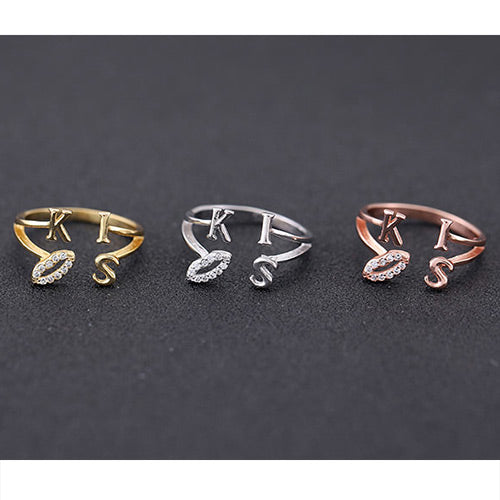 Sweet Lips&kiss Rings - Crateen