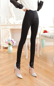 Elegant Black Leggings - Crateen