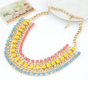 Chunky Multicolor Necklace - Crateen