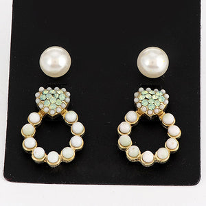 Lovely Green Diamond Earrings - Crateen
